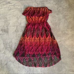 Strapless Floral Dress Size Small